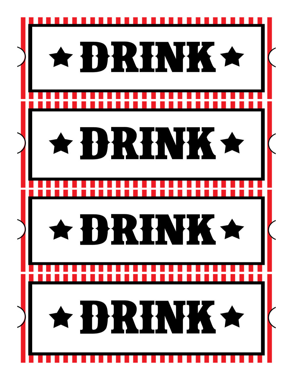 Sweet daisy designs free printables home movie theatre night for Drink token template
