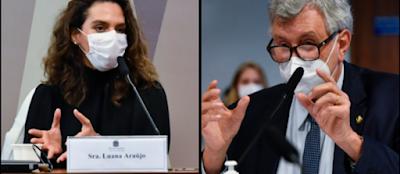 Infectologista Luana Araújo sugere a Heinze se informar sobre 'prêmio' de pseudociência