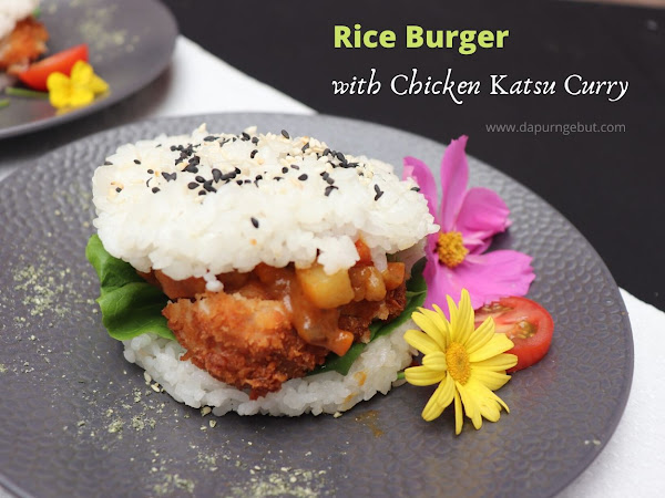 Rice Burger with Chicken Katsu Curry