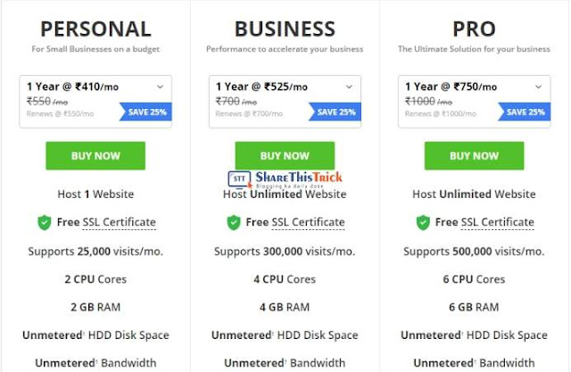 reseller club hosting plans