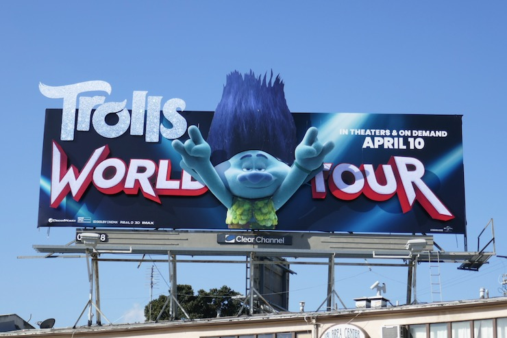 Trolls World Tour 3D Branch billboard