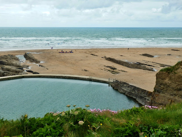 Natural sea water swimming pool at Bude, Cornwall