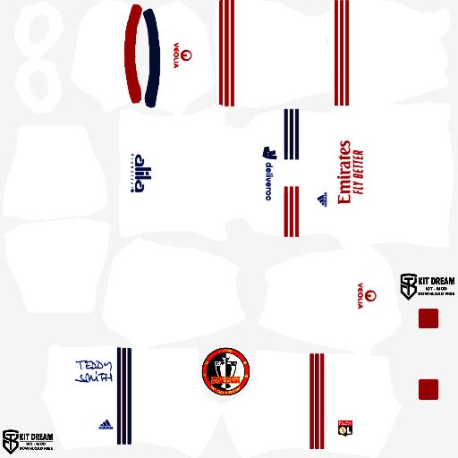 Kits Olympique Lyon 2021 - Dream League Soccer 2021