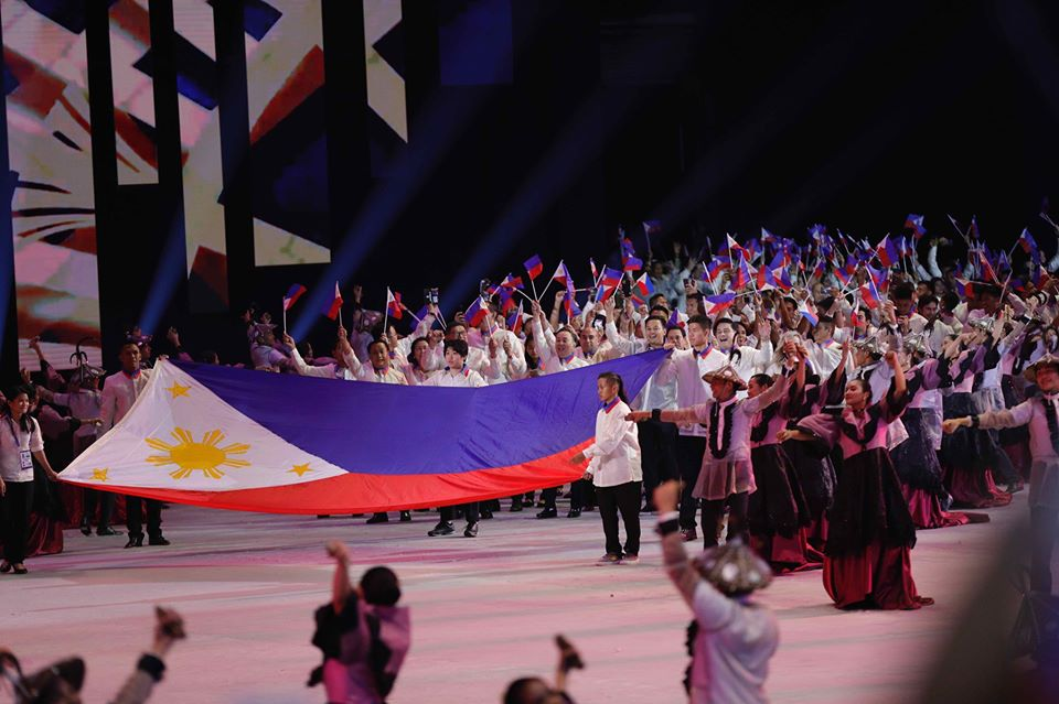 Team Philippines during the Opening Ceremony of 30th SEA Games
