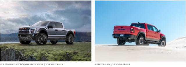 Ford F150 Raptor dan RAM 1500 Truck