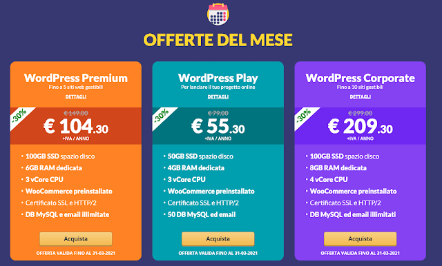 Hosting Wordpress sottocosto
