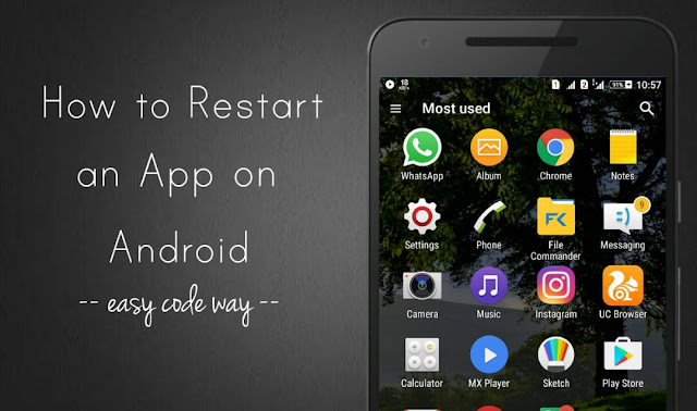 Restart Android app after crashing