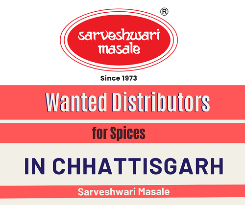 Wanted Distributors for Spices ( Indian Masale ) Products in Chhattisgarh.