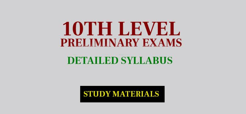 10th level preliminary detailed syllabus