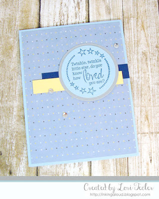 Twinkle Twinkle Little Star card-designed by Lori Tecler/Inking Aloud-stamp from Verve Stamps