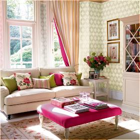 Modern Colorful Home Decor Romantic Style Living Room Design Ideas