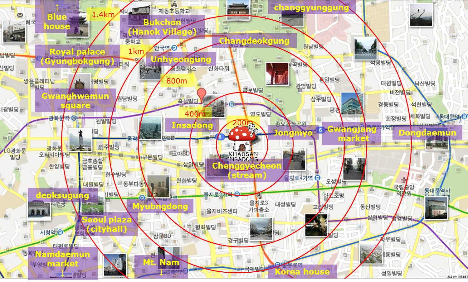 Cikgu MIDADs missADVENTURES I LOVE ATLAS AND MAPS – Seoul Tourist Attractions Map