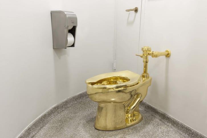 Inodoro de oro macizo robado del Palacio de Blenheim