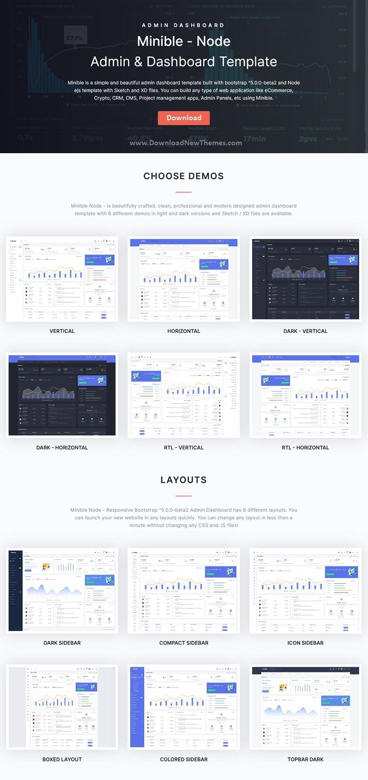 Node.js Admin & Dashboard Template
