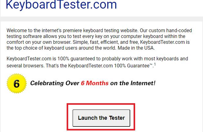 1. Cách Test keyboard với Keyboard Tester a