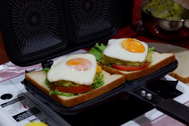 membuat sandwich dengan happycall double pan