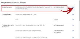 Cara Mengubah Bahasa di Facebook Lewat Browser HP  | PC