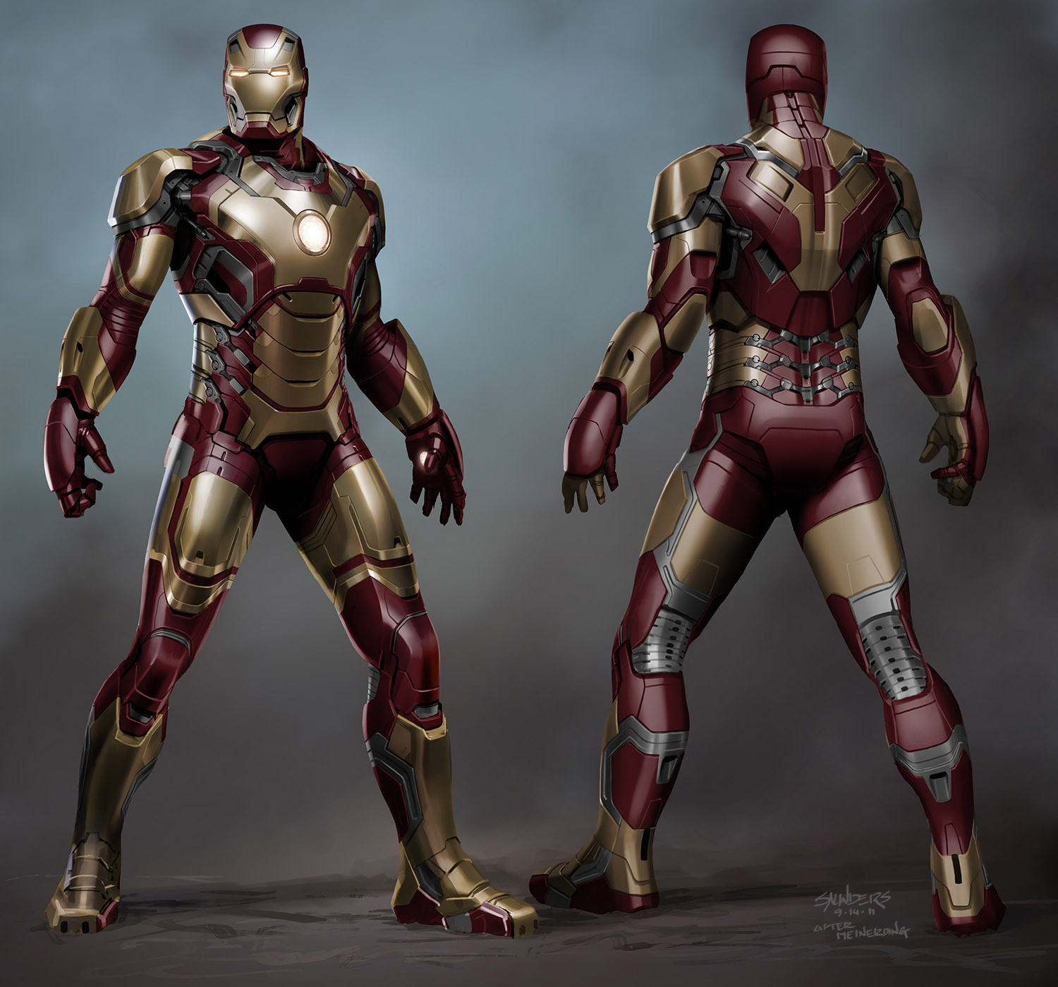 Incredible IRON MAN 3 Concept Art by Phil Saunders « Film ...