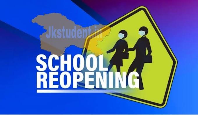 Big Update Regarding Reopening Of Schools/Colleges/Universities JK L.G Manoj Sinha Issues Orders