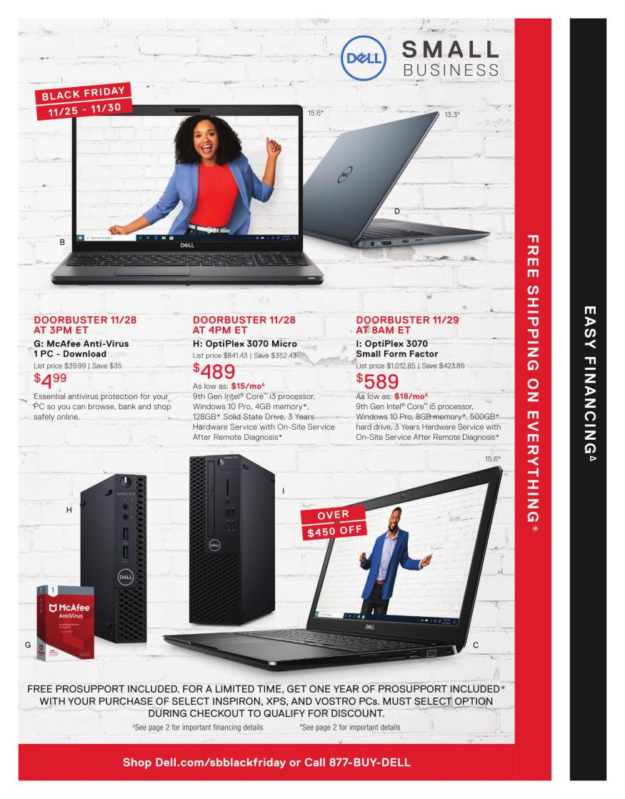 Dell Small Business Black Friday 2019 Page 3