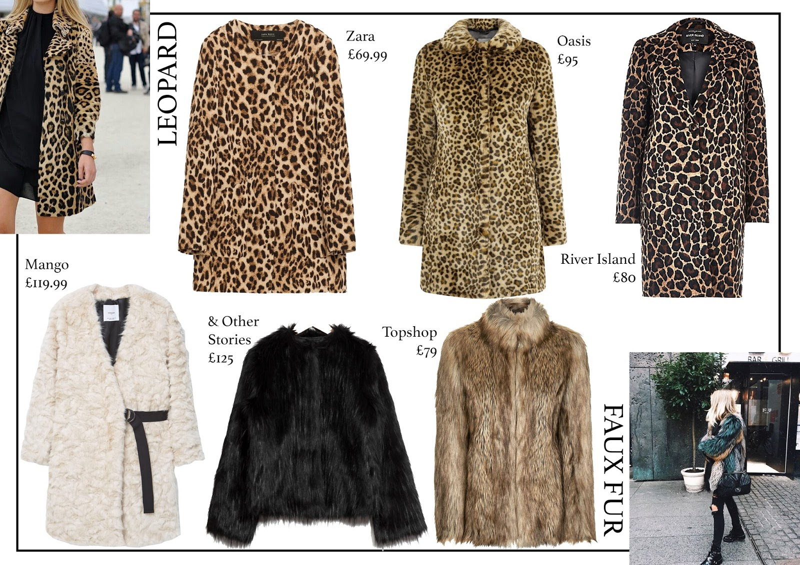 fashion, aw16, coat guide, leopard, faux fur, shearling, pink, military, puffa, fashion blog,