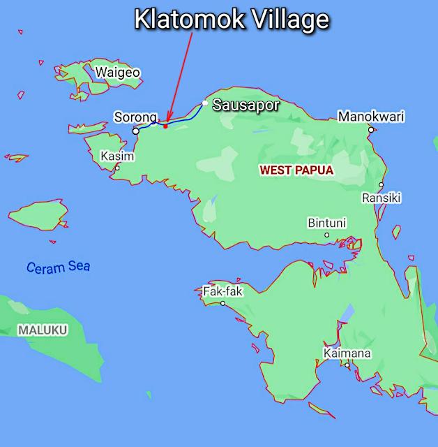 Klatomok village is in Klasouw valley