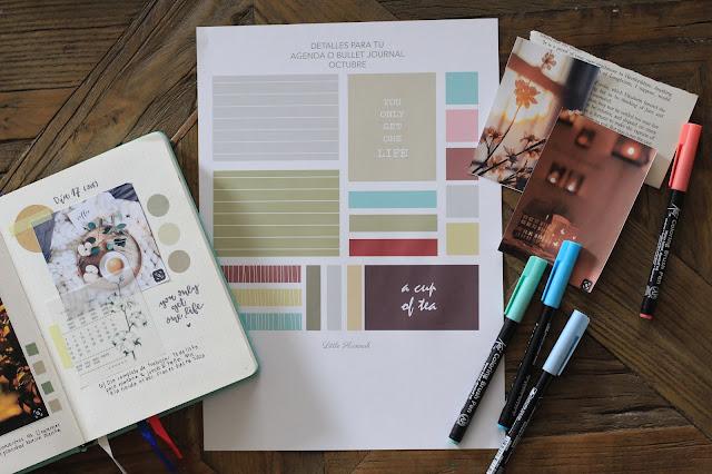 Descragable: decora tu bullet journal con una paleta de colores otoñales
