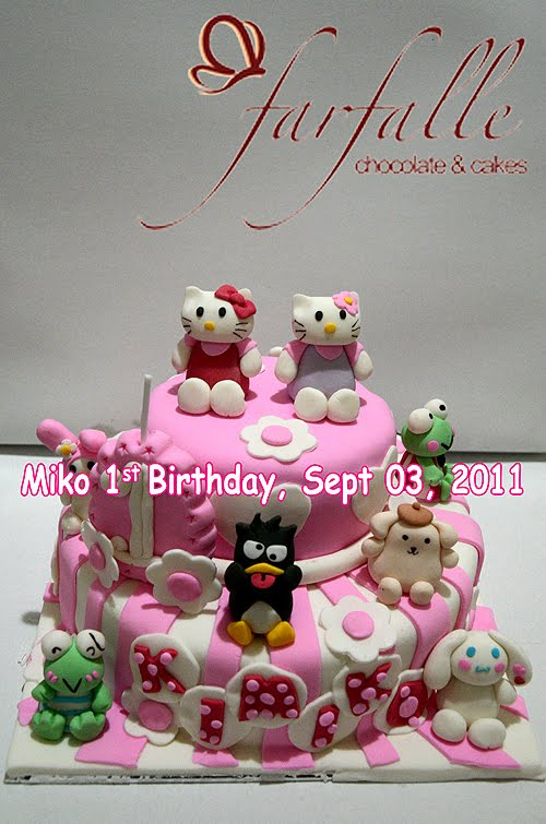 Farfalle Chocolate Amp Cakes Sanrio Cake Hello Kitty