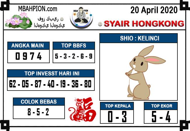 Prediksi HK 20 April 2020 - Syair Mbah Pion