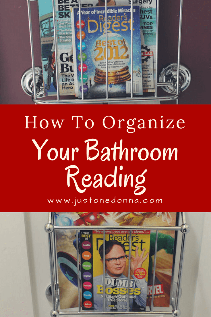 How To Organize Your Bathroom Reading Material Just One