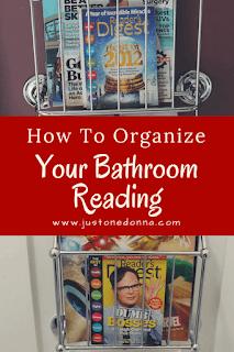 Use Wall-Mounted Magazine Racks to Organize Your Bathroom