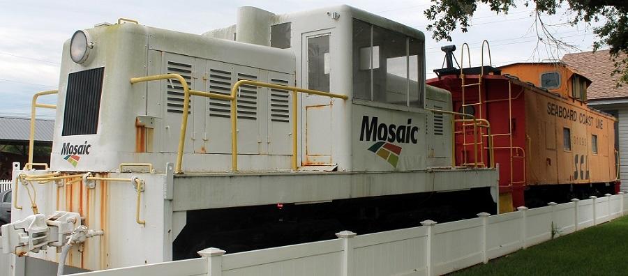 Equipamiento ferroviario en el Mulberry Phosphate Museum