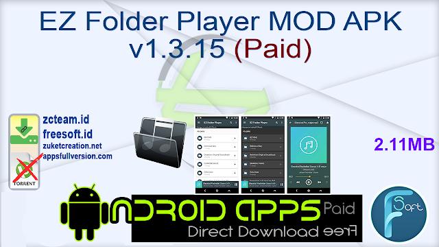 EZ Folder Player MOD APK v1.3.15 (Paid)