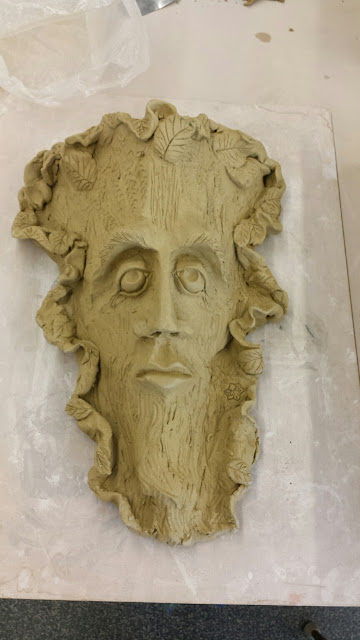 Bob Kingsmill inspired tree man mask, by Lily L.
