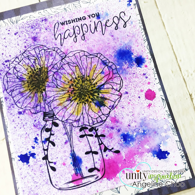 ScrappyScrappy: Easy Dylusions Background #scrappyscrappy #unitystampco #stamp #stamping #papercraft #scrapbook #quicktipvideo #youtube #video #dylusions #gracielliedesign