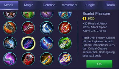 Scarlet Phantom adalah item penambah attack speed