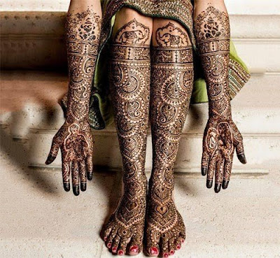 Mehendi Bridal Design, Elephant Motif Bridal Design