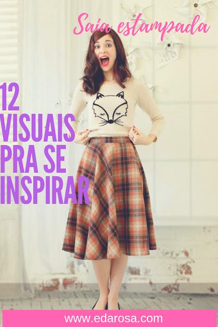 saia estampada 12 ideias de look