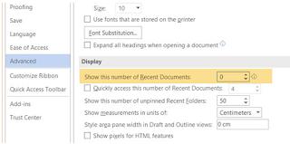 Cara Menghapus History Recent Document Microsoft Word