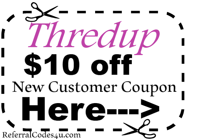 $10 off Thredup New Customer Coupon Code 2018 Jan, Feb, March, April, May, June