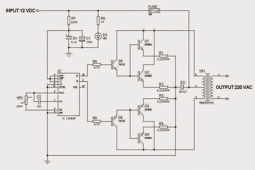 5 Skema Inverter Terbaik 1000 Watt, 2000 Watt Sampai 5000 Watt