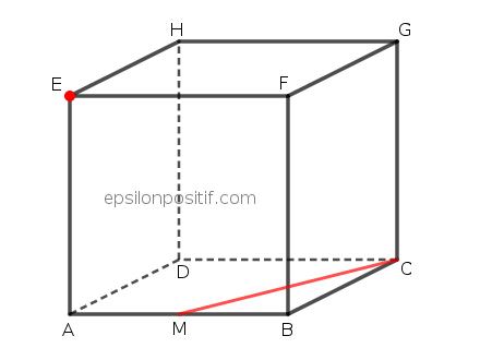 Soal Matematika UN 2015 tentang Dimensi 3 : Jarak antara Titik dan Garis