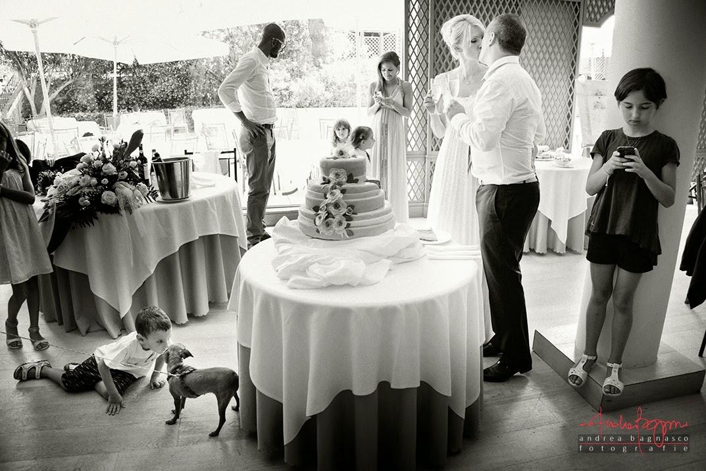 taglio della torta ricevimento matrimonio Grand Hotel Arenzano