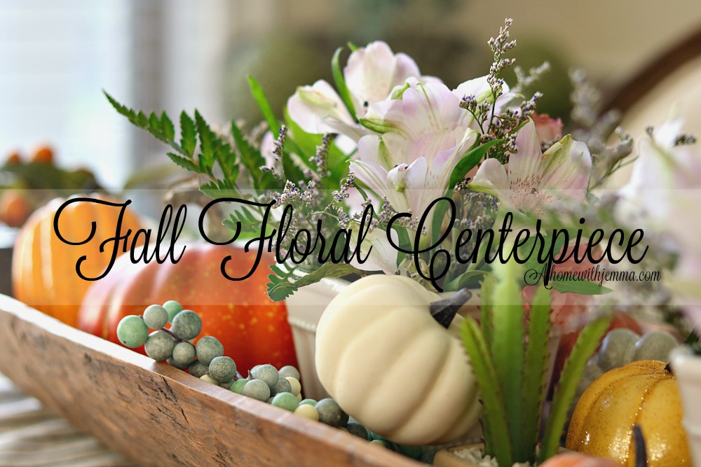 decorating, Fall, Pumpkins, Cottage, French, Country, centerpiece, athomewithjemma.com