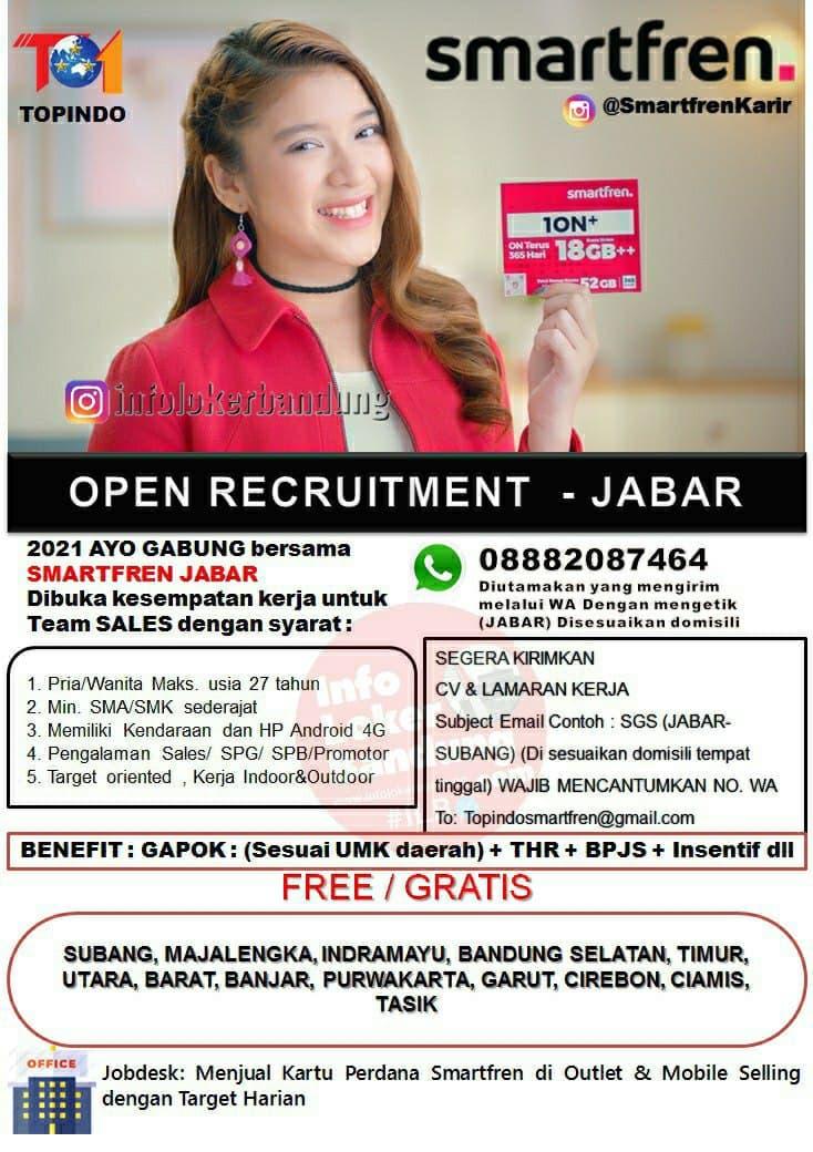 Lowongan Kerja Smartfren Jabar Bandung Maret 2021