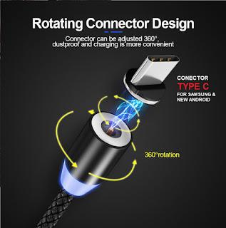 Kabel Charger Magnetic Tipe C