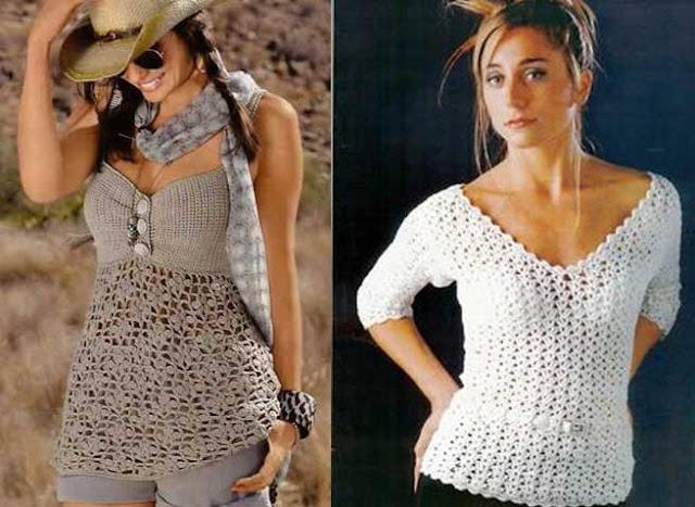 blusas de moda tejidas