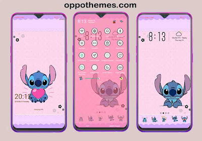 Stitch Theme For Oppo Android Smartphones