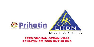 Permohonan Geran Khas Prihatin RM3000 Untuk PKS (Tarikh Bayaran)