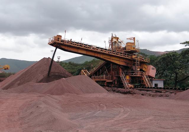 processamento mineral em uma mineradora